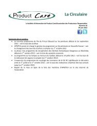 Juin 2012-en Francais - Product Care
