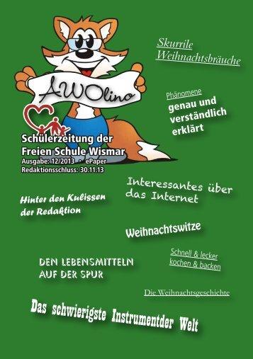 Weihnachtszeitung. - Freie Schule Wismar