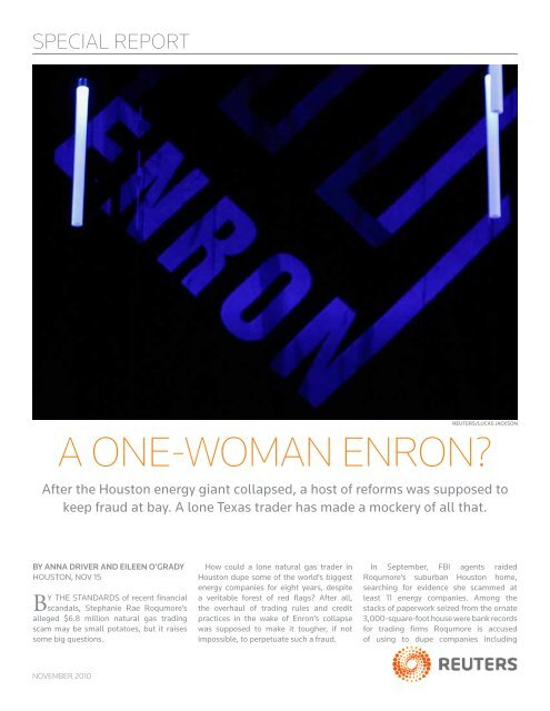 a one-woman enron? - Thomson Reuters