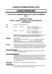 THM 2013 Ausschreibung - Landesschwimmverband Tirol