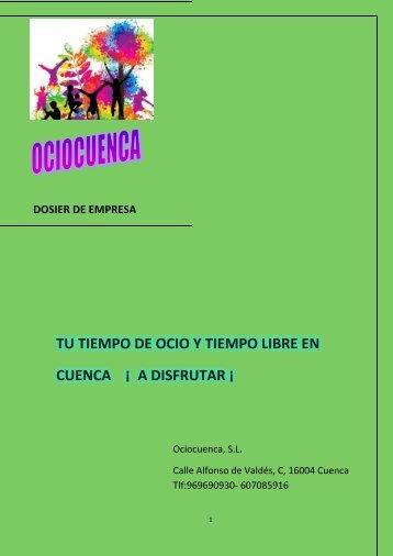 TU TIEMPO DE OCIO Y TIEMPO LIBRE EN CUENCA ¡ A DISFRUTAR ¡