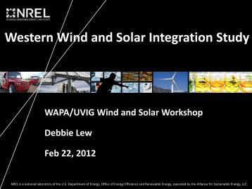 Western Wind and Solar Integration Study - Utility Variable ...