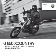 G 650 XCOUNTRY - BMW Motorrad International