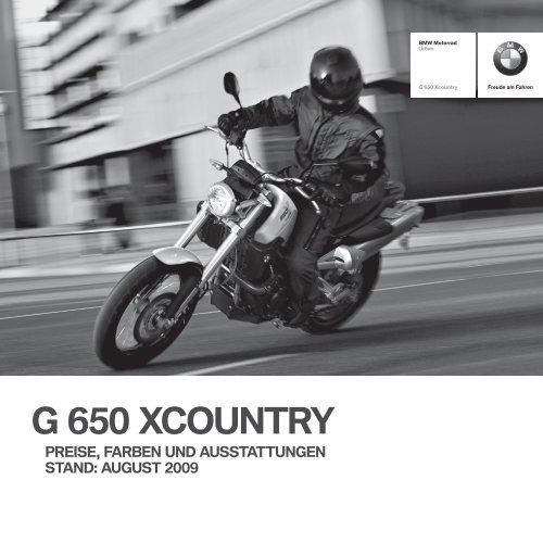 G 650 XCOUNTRY - BMW Motorrad International