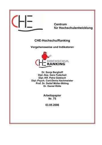 Centrum für Hochschulentwicklung Che-Hochschulranking