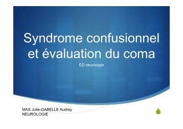 mas-syndrome confusionnel et coma_AG2 [Mode de compatibilité]