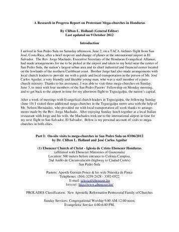 A Research in Progress Report on Protestant Mega ... - Prolades.com