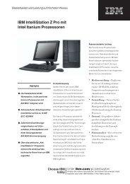 IBM IntelliStation Z Pro mit Intel Itanium ... - StarNet IT GmbH