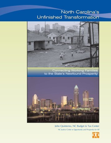 North Carolina's Unfinished Transformation - The Working Poor ...
