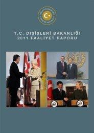 2011 yılı Faaliyet Raporu - Ministry of Foreign Affairs