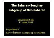 The Saharan-Songhay subgroup of Nilo-Saharan - Roger Blench