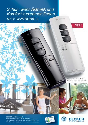 Die neue Centronic Reihe - Becker Antriebe GmbH