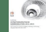 Hypnotherapeutische Kommunikation L9 2014 - SySt