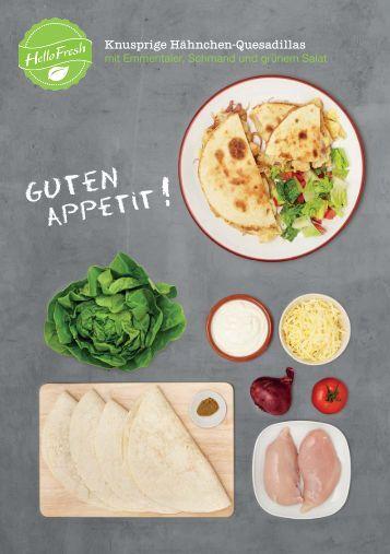 Knusprige Hähnchen-Quesadillas mit Emmentaler ... - HelloFresh
