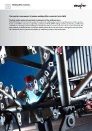 The logical consequence: Premium welding filler materials from EWM