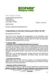 BIOPARK e. V. - Landtag Mecklenburg Vorpommern