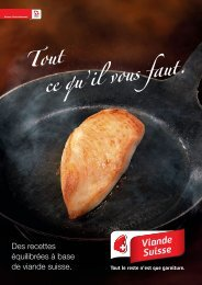 Des recettes équilibrées à base de viande suisse - Schweizer Fleisch