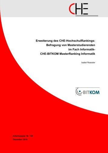 CHE-BITKOM Masterranking Informatik - Centrum für ...