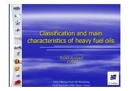 Classification and characteristics - Cedre