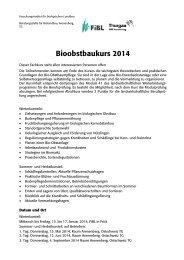 Ausschreibung - Bioaktuell.ch