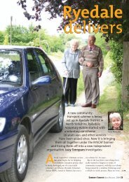 A new community transport scheme is being set up in Ryedale ...