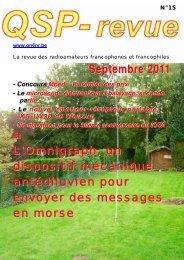 Septembre 2011 - Retour ACCUEIL