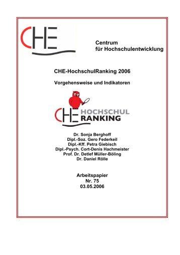 Centrum für Hochschulentwicklung CHE ... - CHE Ranking