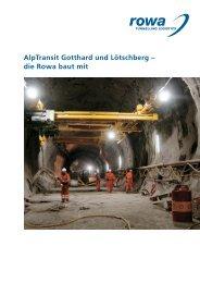 Broschüre - Rowa Tunnelling Logistics AG