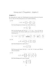 Lösung zum 9.¨Ubungsblatt - Aufgabe 3
