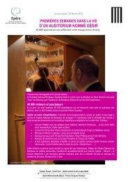 Auditorium un mois après son inauguration - Opéra de Bordeaux