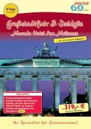 Großstadtflair & Seeidylle - SKAN-TOURS Touristik International ...