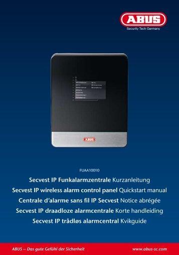 Secvest IP Funkalarmzentrale Kurzanleitung ... - HomeAlarm.dk