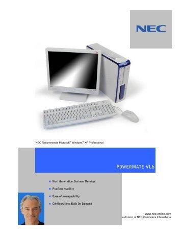 TÉLÉCHARGER PILOTE NEC POWERMATE VL6