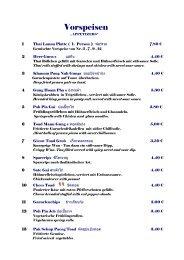 Speisekarte als PDF - Thai Lanna
