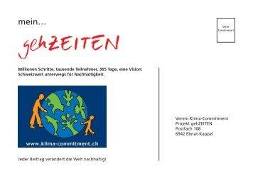 gehZEITEN-Flyer - Klima-Commitment