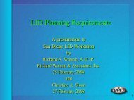 LID Panning Requirements - Project Clean Water