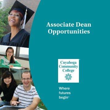 Assoc Dean Opportunities.pdf - Cuyahoga Community College