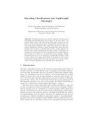 Encoding Classifications into Lightweight Ontologies - CiteSeerX