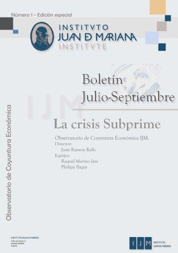 La crisis subprime - Instituto Juan de Mariana