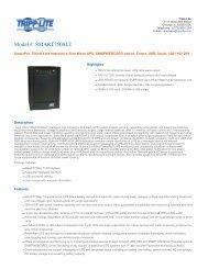 Model #: SMART750SLT - Tripp Lite