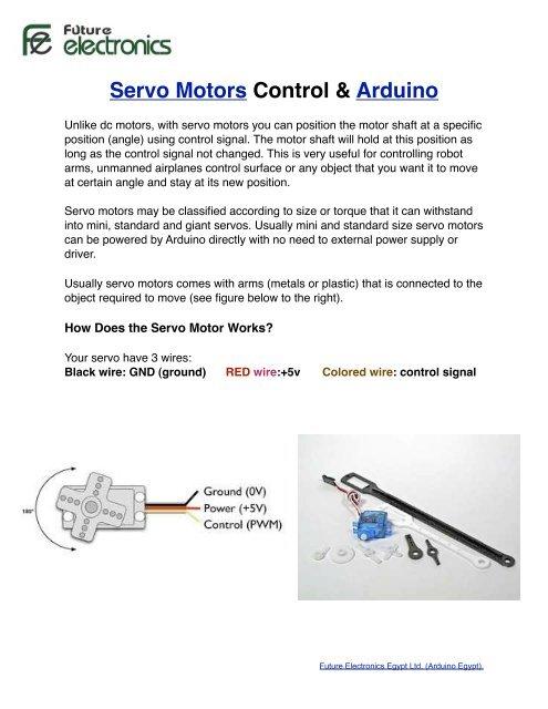Introduction to Servo Motors & Arduino - Arduino Egypt