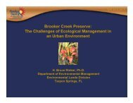 Brooker Creek Preserve: The Challenges of ... - Pinellas County