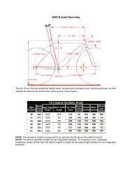 Bike Measurements
