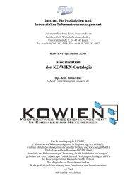 Modifikation der KOWIEN-Ontologie - Institut für Produktion und ...