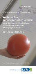 Weiterbildung zur pflegerischen Leitung (PDF ... - LVR-Klinik Bonn