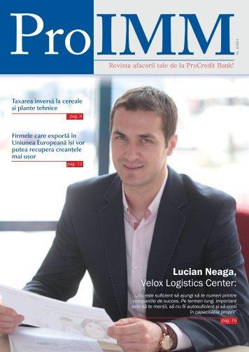 ProIMM - Revista afacerii tale de la ProCredit Bank_nr.2 / 09.2011