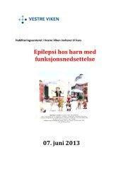 Epilepsi hos barn med funksjonsnedsettelse 07 ... - Vestre Viken HF