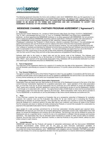 Channel Partner Agreement Megadox Com