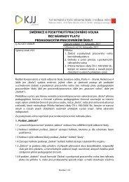 Směrnice k poskytování volna bez náhrady platu pedagogickým ...