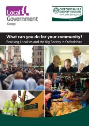 What can you do for your community? - Oxfordshire County Council
